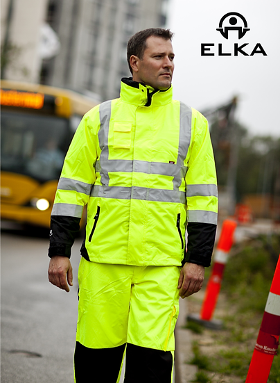 Elka Hi-vis Waterproof Workwear