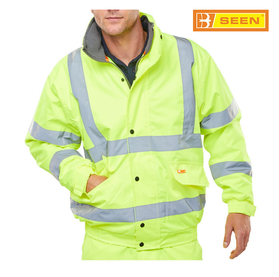 B-Seen CBJFL hi-vis bomber jacket