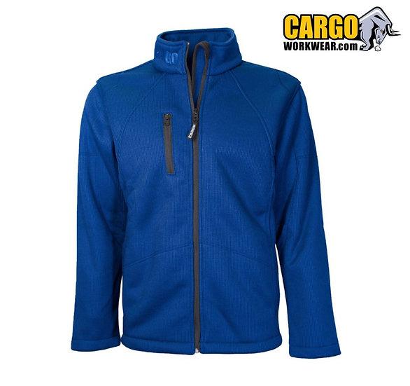 Cargo Techno ribbed fleece jacket