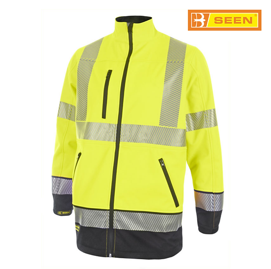 B-Seen HVTT040 hi-vis softshell jacket