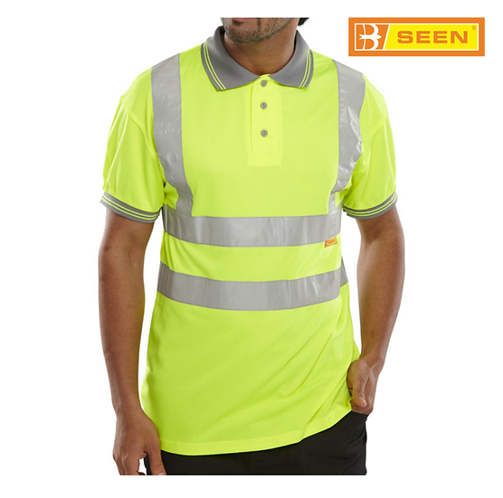 B-Seen BPKSEN hi-vis polo shirt