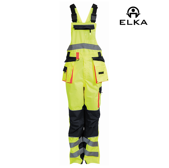 Elka 089904R hi-vis bib & brace with holster pockets