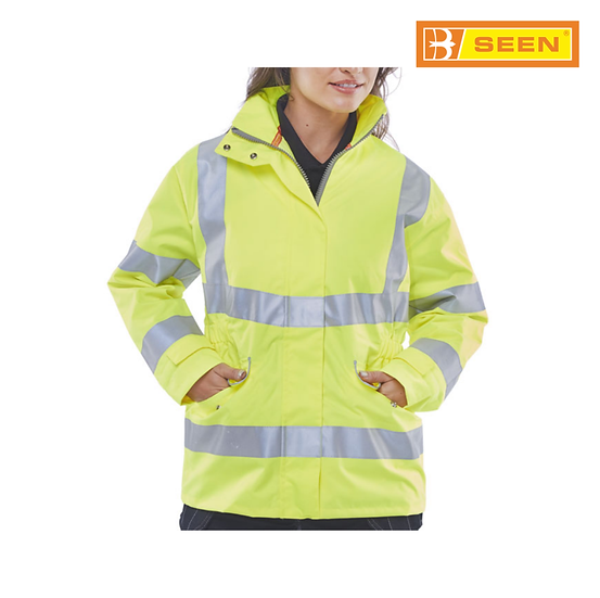 B-Seen LBD30 womens hi-vis jacket
