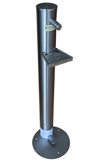 Stainless steel pedal dispenser