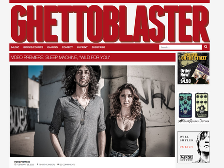 Ghetto Blaster Magazine - Wild For You - PREMIERE
