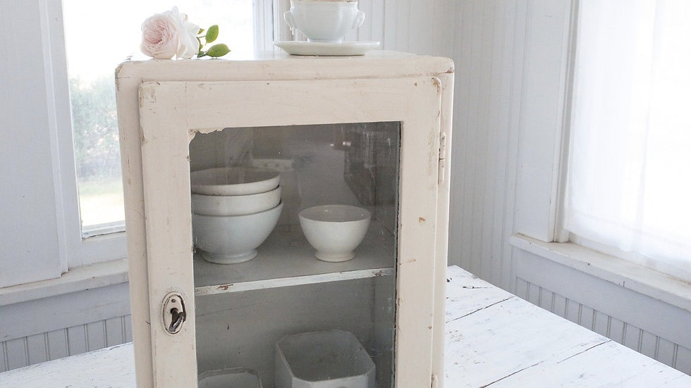 French Glass Cabinet with Key