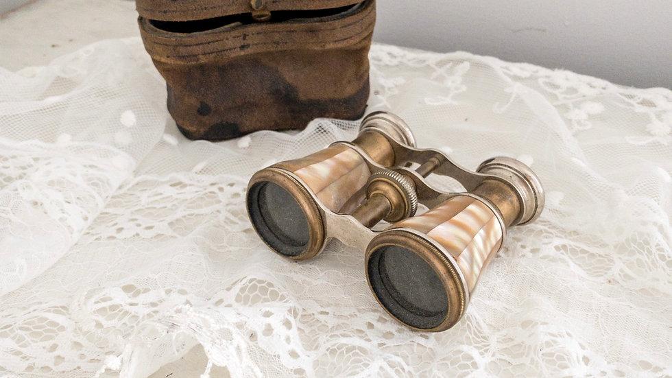 Antique Lanier Paris Opera Glasses w/Case