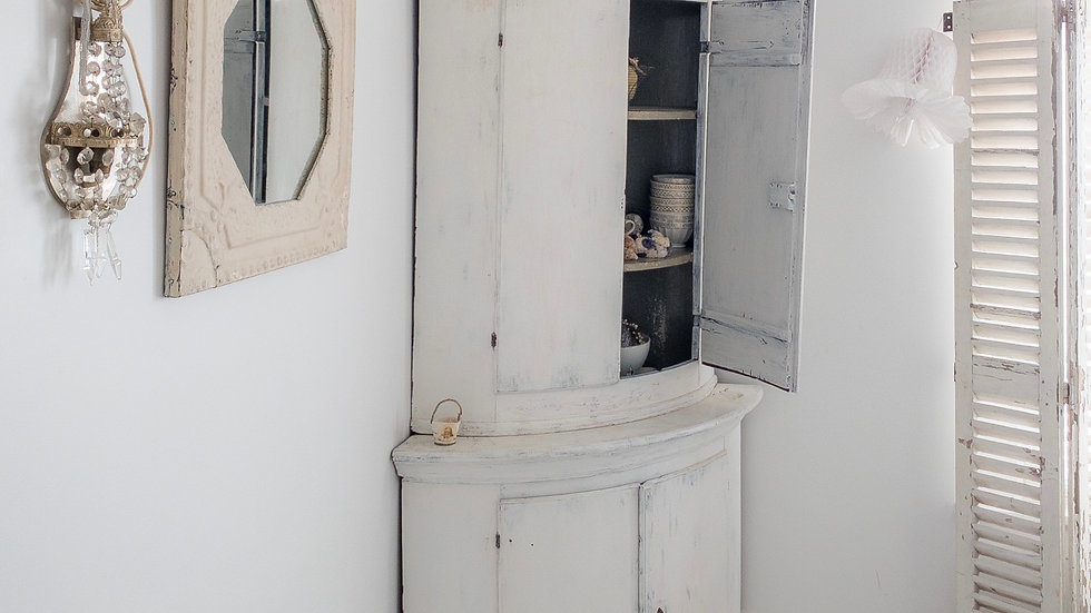 Vintage French Fleur de Lys Mirror
