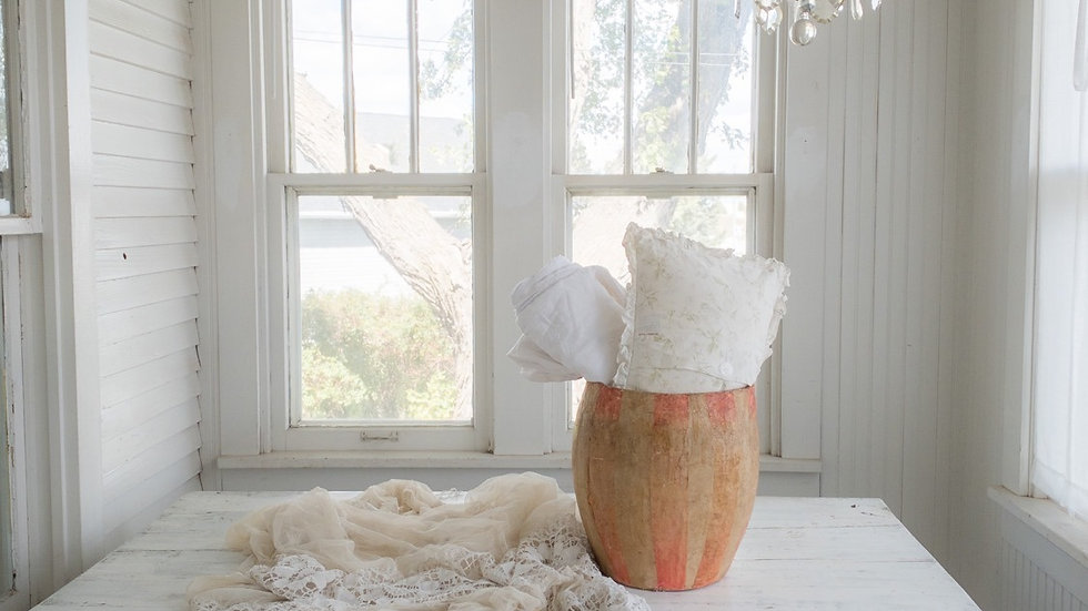 Vintage Shabby Chic Couture Bucket