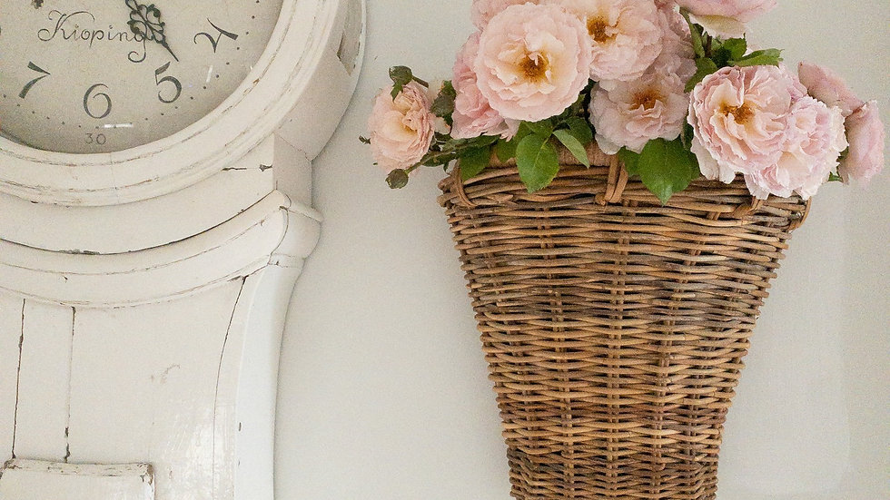 Vintage French Wall Basket