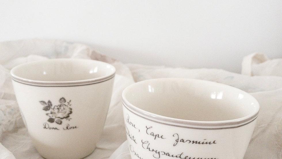 Hand-finished coffee/tea cup