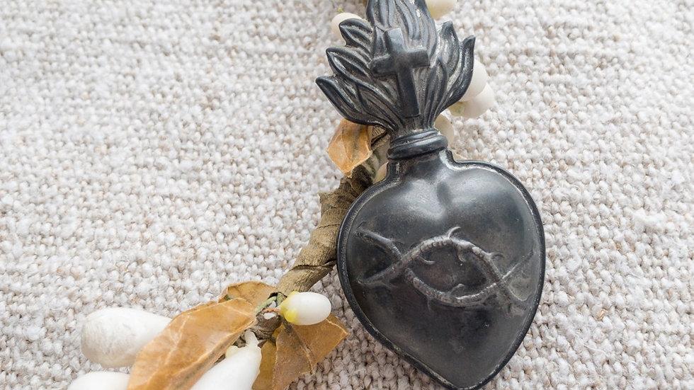 Antique Sacred Heart of Jesus Pendant