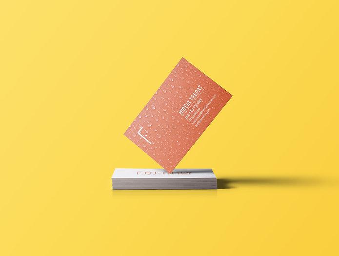 Diseño de tarjetas de Freshly por Iconicandco