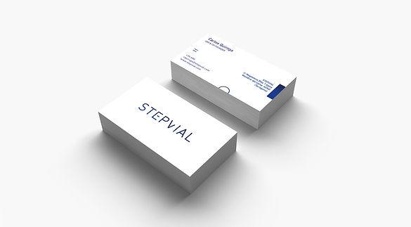 Disseny de targetes per empresa de Cambrils Step Vial