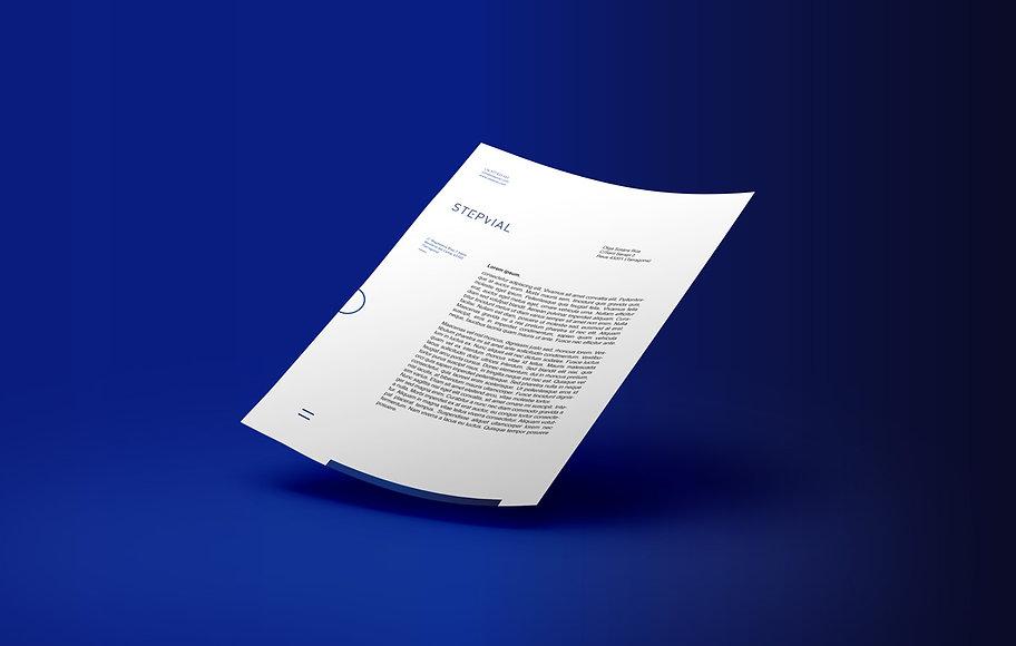 Diseño de carta Step Vial por estudio Iconicandco de Reus