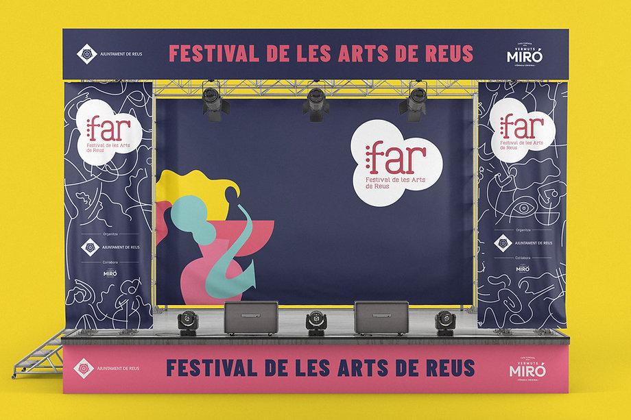 Imatge gràfica del Festival de les Arts de Reus, per icònic and co, estudi de disseny i comuniació de Reus