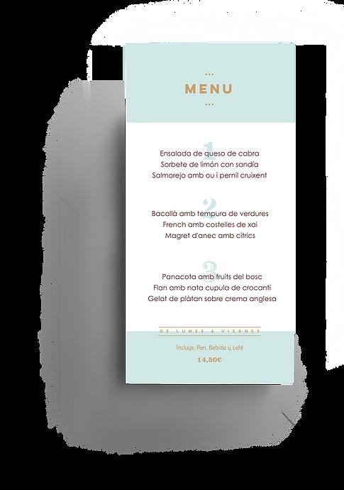 Diseño menú restaurante elDhor por Iconic&co