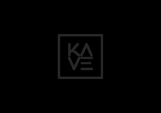 Logotipo de marca Kave diseñado por Iconicandco