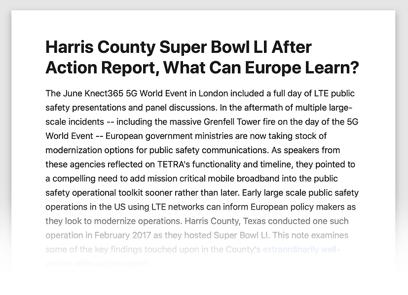 Harris County SBLI Article: What Can Europe Learn?