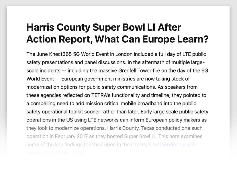 Harris County SBLI Article: What Can Europe Learn?