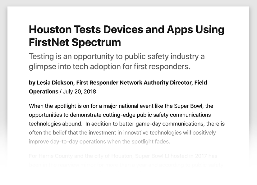 FirstNet Authority Early Builder