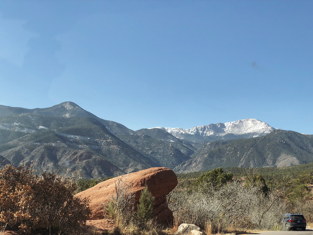 garden of the gods, colorado springs, colorado, mountain range, rock formations