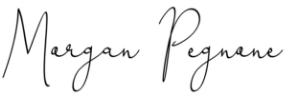 morgan pegnone signature
