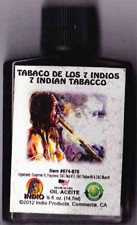 Tabaco De Los 7 Indios Oil