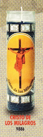 Cristo De Los Milagros Candle