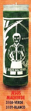 Jesus Malverde Candle