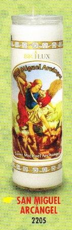 San Miguel Arcangel Candle