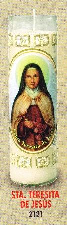 Santa Teresita De Jesús Candle