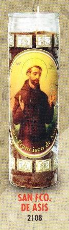 San Francisco De Asis Candle