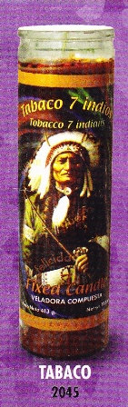 Tabaco 7 Indios Candle