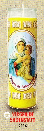 Virgen De Shoenstatt Candle