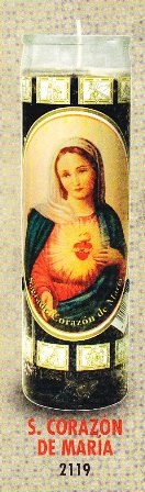 Sagrada Corazón De María Candle
