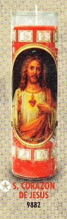 Sagrado Corazón De Jesús Candle