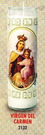 Virgen Del Carmen Candle