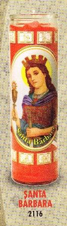 Santa Bárbara Candle