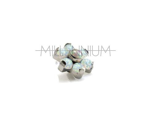 Topo Mini Flor com Opala Branca