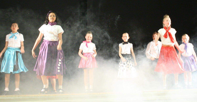 Jive tap dancers