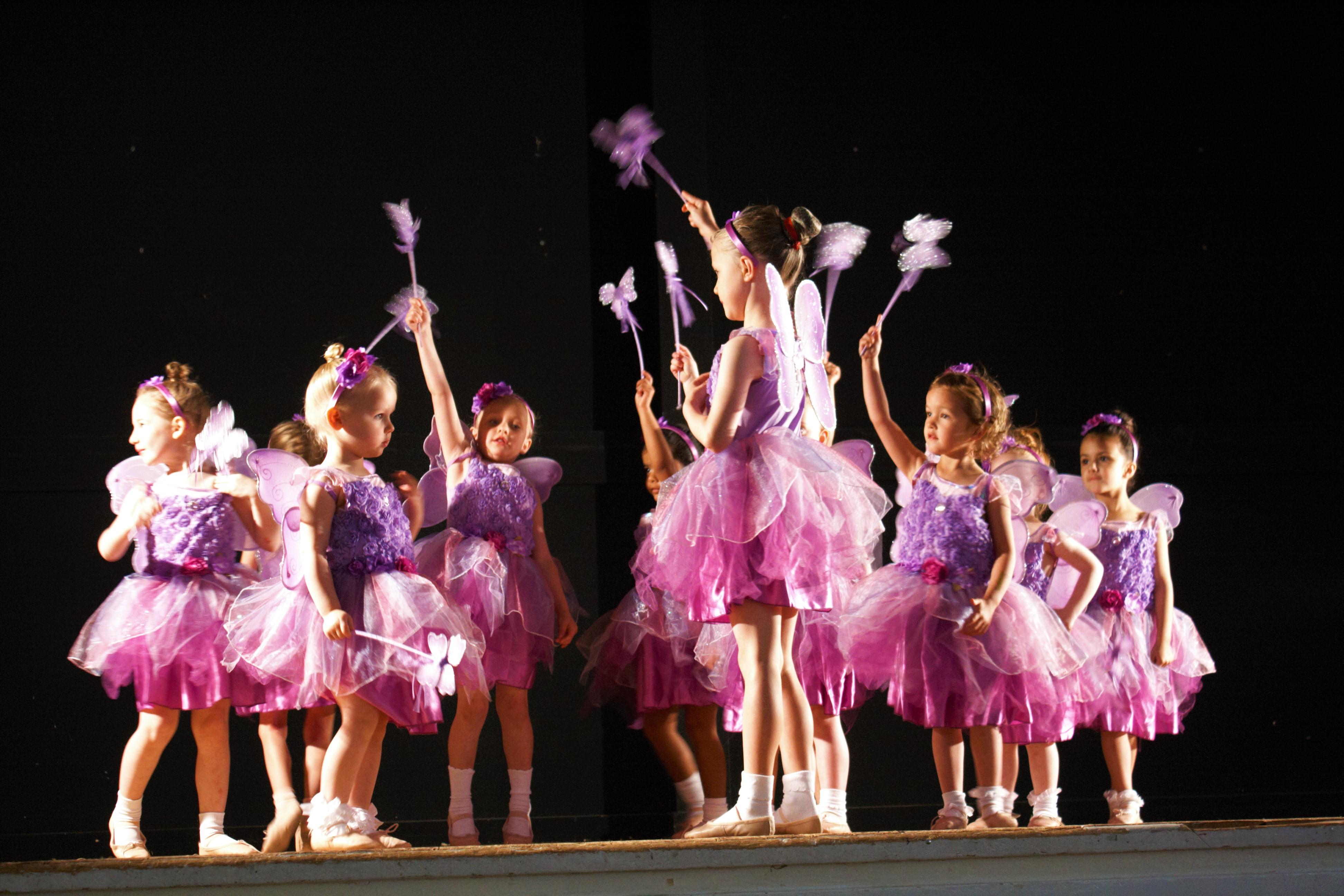 Ballerinas dressed as fairies