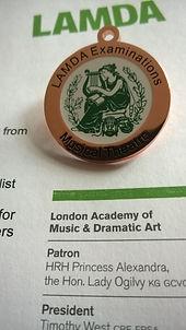 LAMDA musical theatre medal