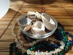 Crystal Singing Bowls - Water Shells and Stones