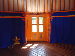 Yurt entranceway