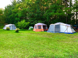 Tent camping grounds