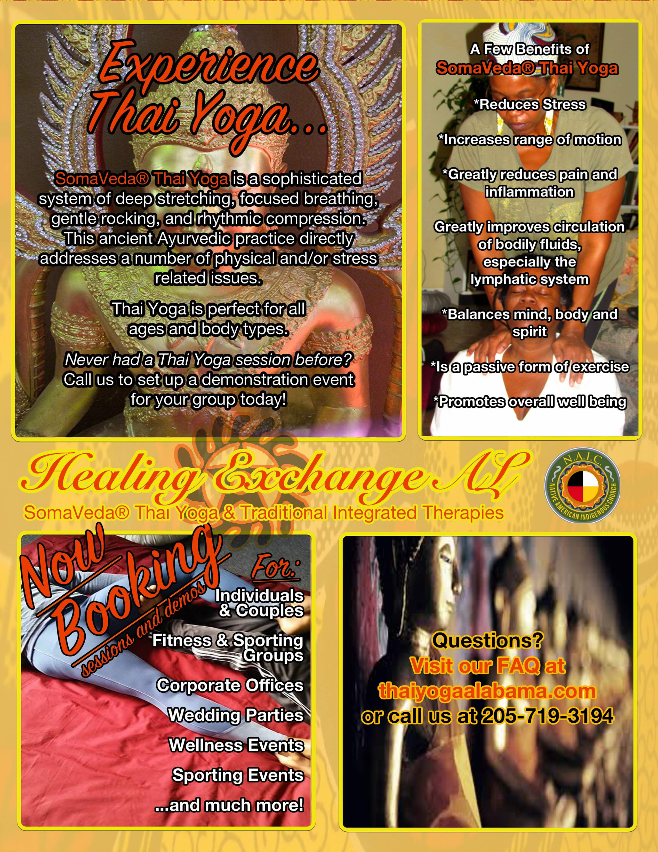 HEALMobile® Thai Yoga Svc
