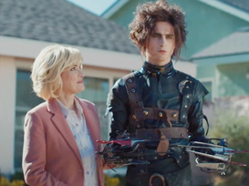 Timothee Chalamet Plays Edward Scissorhands In Cadillac Superbowl Commercial