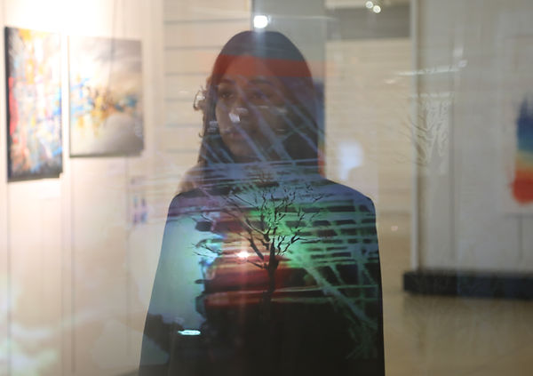 The Window Maze part of the BuStopia art instalation and fashion show Stephen Calcutt artist and photographer