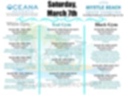 Coastal Classic Saturday Schedule 2020 (